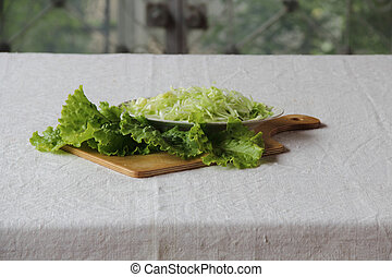 salad of fresh cabbage and lettuce