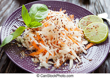 salad of grated black radish and carrot