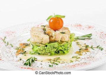 roasted filet halibut - Salad of roasted filet halibut at ...