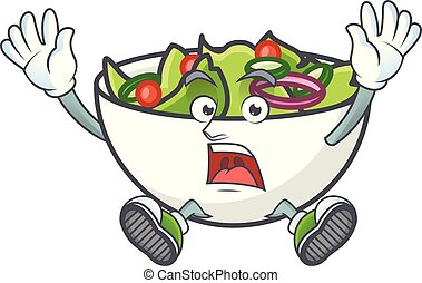 Salad of successful character in the cartoon