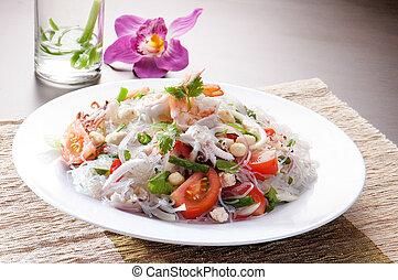 salad Seafood Thai Style in thai restaurant