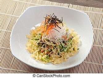 salad smoked eel with fish sauce
