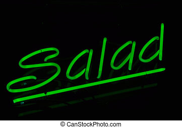 Salad Text Neon Sign