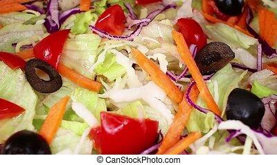 Salad vegetables salads colorful healthy vegetable...