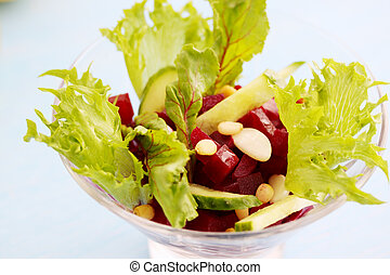salad with beets in a bowl