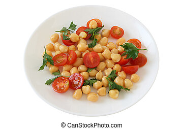 salad with chick-pea