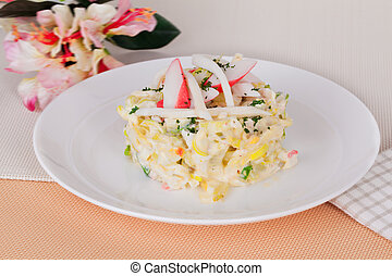salad with crab sticks