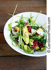 salad with fresh avocado