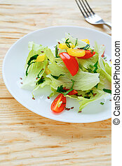salad with fresh lettuce