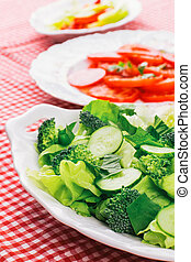 salad with fresh vegetable