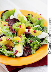 salad with haulms