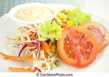Salad with mayonnaise