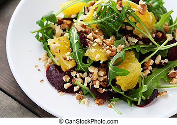 salad with orange and baked beets