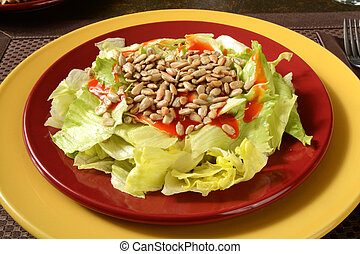 Salad with sunflower seeds