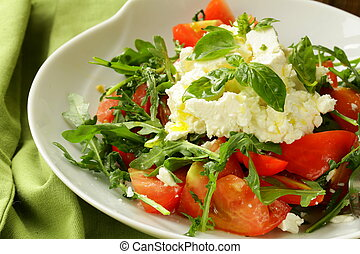 salad with tomato basil