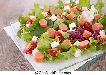 salad with vegetable and sausage