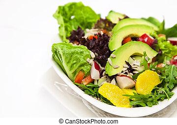 salada abacate