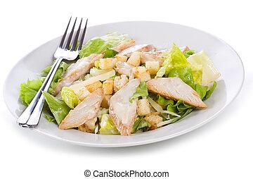 salada caesar galinha