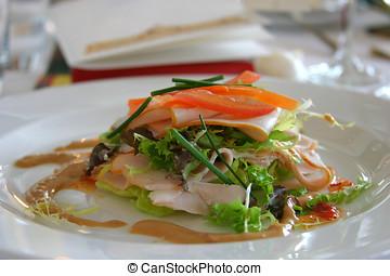 salada, em, restaurante