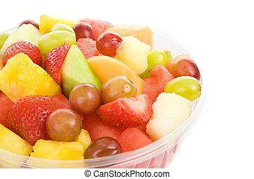 salada fruta, tigela