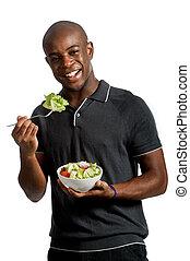 salada, homem