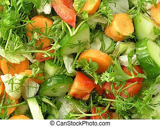 salada, misturado