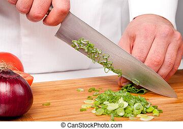 salada, preparação