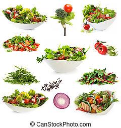 saladas, isolado, cobrança