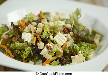 salade, dans, bol