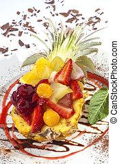 salade fruits, ananas