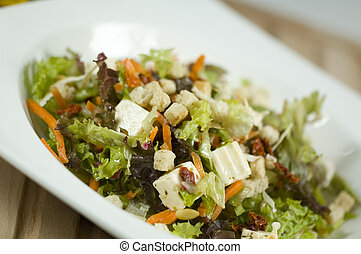salade, incliné, à, righ