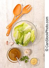 salade verte, sauce, salade