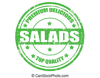 Salads stamp - Grunge rubber stamp with word salads...
