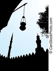 Salah El Din Castle in Cairo, Egypt - Vector