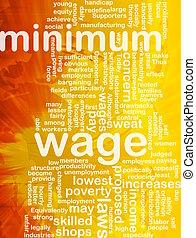 salaire, minimum, mot, nuage