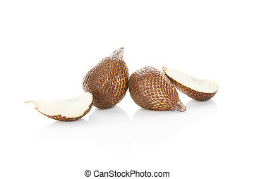 Salak fruit. - Salak fruit isolated on white background....