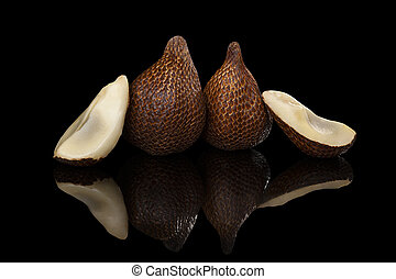 Salak fruit. - Salak fruit isolated on black background....