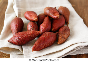 Salak fruits also known as snake fruits