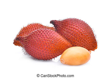 salak fruit,salacca zalacca isolated on white background