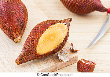 Salak Palm fruit, tropical fruit. - Salak Palm fruit,...