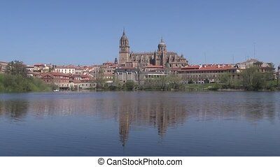salamanca city from river - Salamanca city from Tormes river...