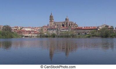 salamanca city from river - Salamanca city from Tormes river...