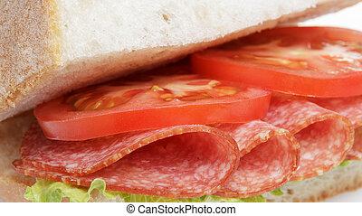 salame, panino, italiano