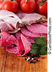 salami and meats