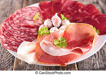 salami, bacon