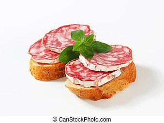 Salami canapes