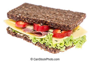 Salami Sandwich on white