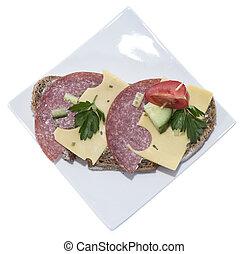 Salami Sandwich (on white)