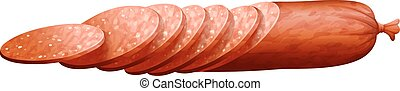 Salami slices in thin pieces