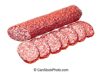 Salami with slices